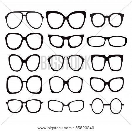 Vector Set Of Fashion Glasses Icon