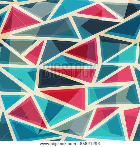 Mosaic Modern Triangles Seamless Pattern