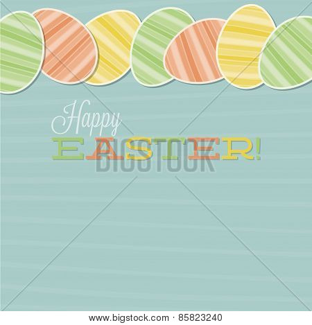Retro Easter Egg Card In Vector Format.