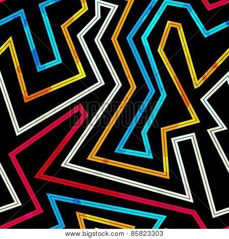 Neon Stripes Seamless Pattern