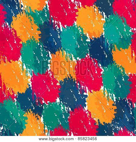 Painting Style Seamless Pattern