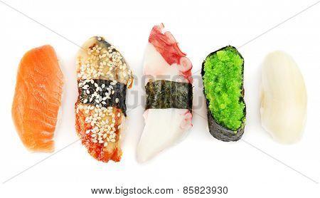 Sushi set isolated on white
