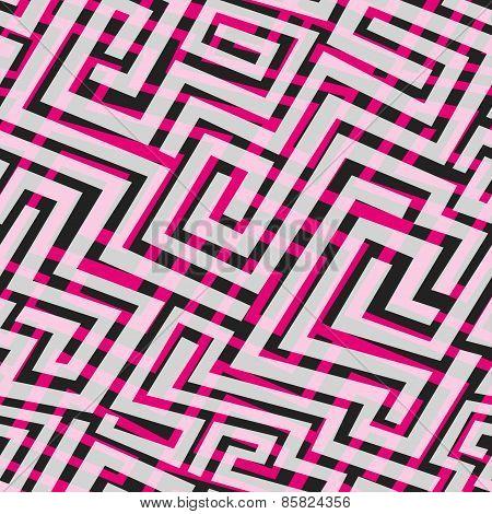 Pink Maze Seamless Texture