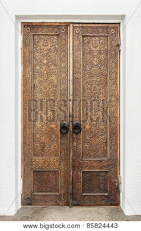 Carved Wooden Door Pavilion