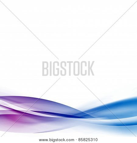 Vivid Swoosh Stream Line Transparent Wave Background