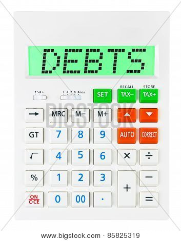 Calculator With Debts