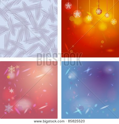 Abstract background card for Merry Christmas. Snowflakes, Christmas decorations. Abstract blue backg