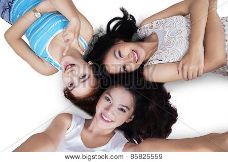 Attractive Casual Girls Taking Self Portrait