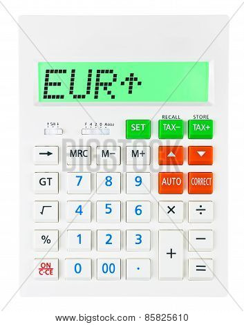 Calculator With Eur
