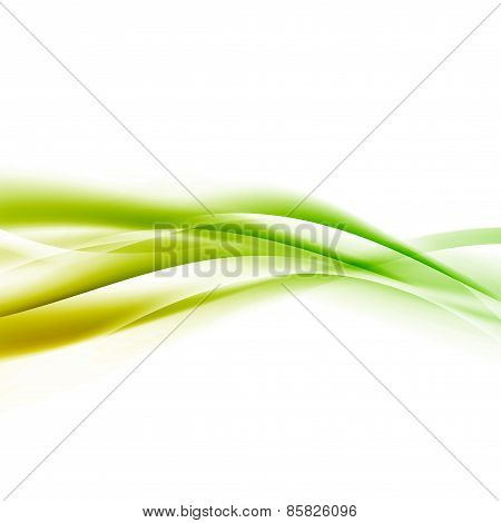 Bright Green Speed Swoosh Line Abstract Modern Layout