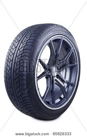Black Tire With Racing Rim