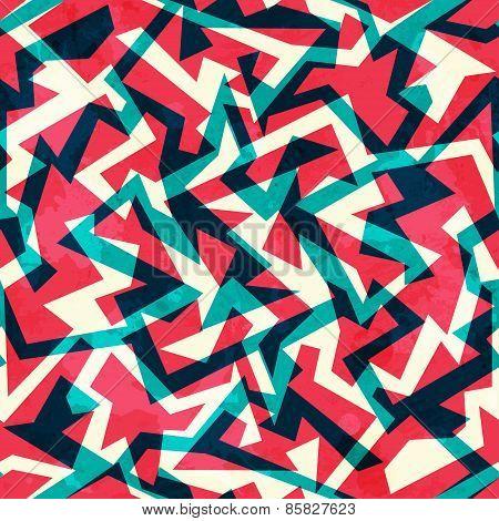 Red Labyrinth Seamless Pattern