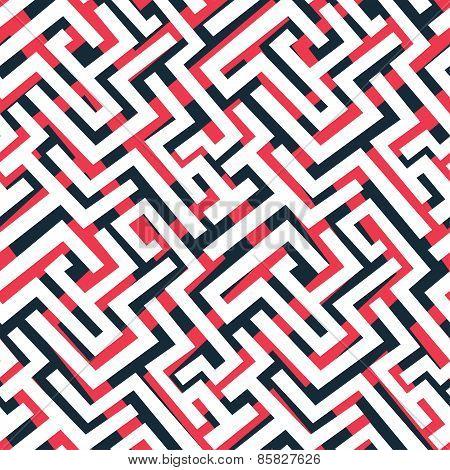 Red Maze Pattern