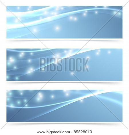 Bright Modern Swoosh Speed Sparkling Flare Line Header