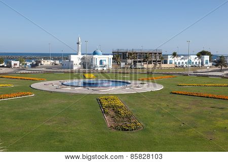 Roundabout With Fountain In Kalba