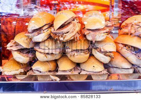 Tasty Sandwiches With Pork