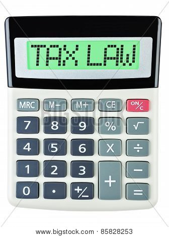 Calculator With Tax Law