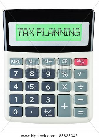 Calculator With Tax Planning