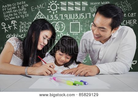 Happy Family Learn To Write