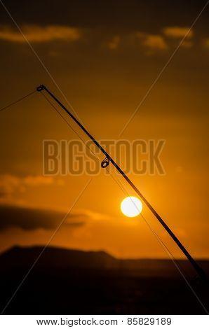 Fisherman Fishing Rod Silhouette
