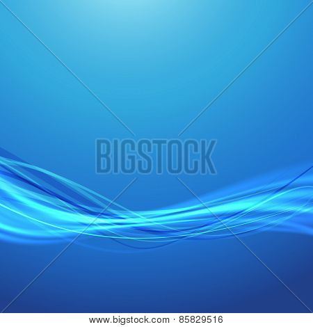Blue Wave Speed Swoosh Smooth Futuristic Background