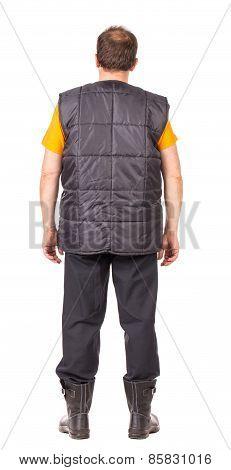 Worker in vest.