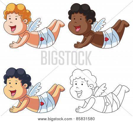 Cartoon Cupid Flying Set