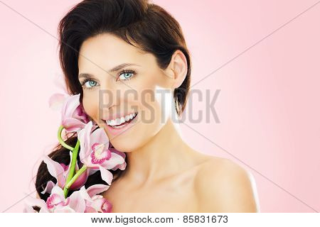 Woman With Orchids