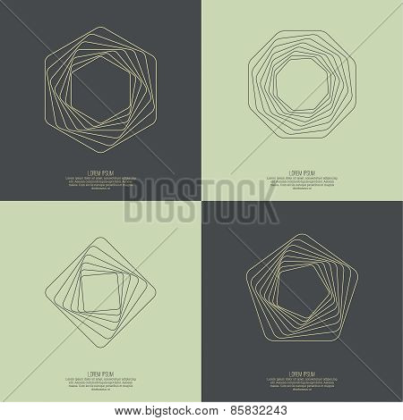Abstract background with a hexagonal geometry