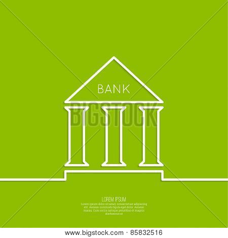 Bank building with columns