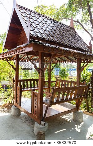 Asian Style Wooden Gazebo