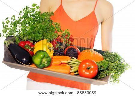Tray With Veggies