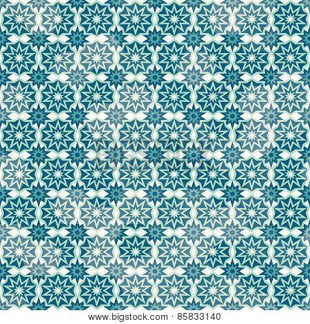 Retro Snow Seamless Pattern
