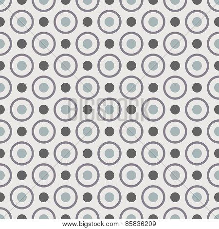 Dots seamless pattern. Grey background.