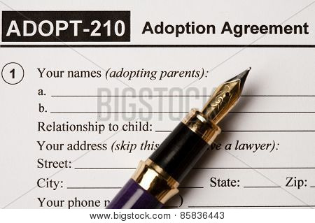 Adoption agreement document