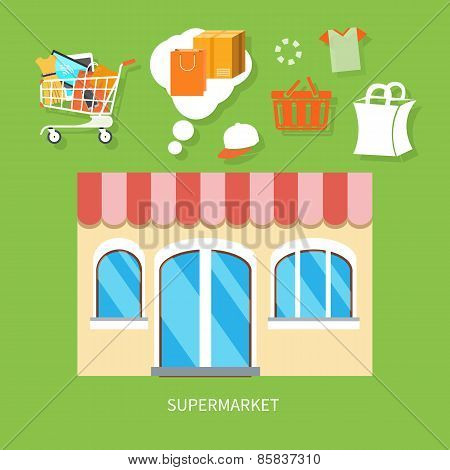 General store, shopping mall and fashion store