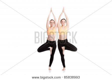 Yoga With Partner, Tree Pose