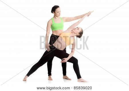 Yoga With Coach, Extended Side Angle Pose