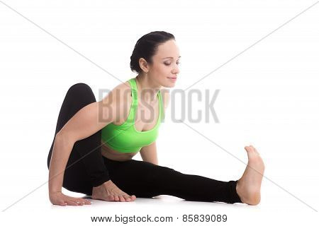 Yoga Pose Dedicated To The Sage Marichi I