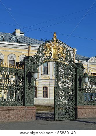 Gate of palace Sheremetievs. St. Petersburg.