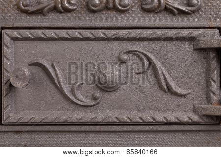 Cast iron door for furnaces.