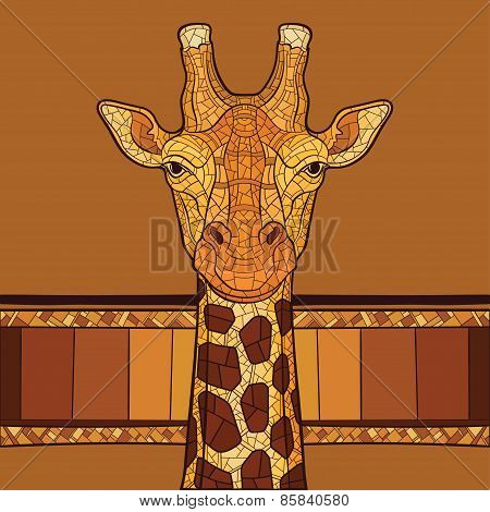 Decorative giraffe head