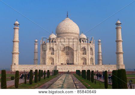 Taj Mahal At The Morning