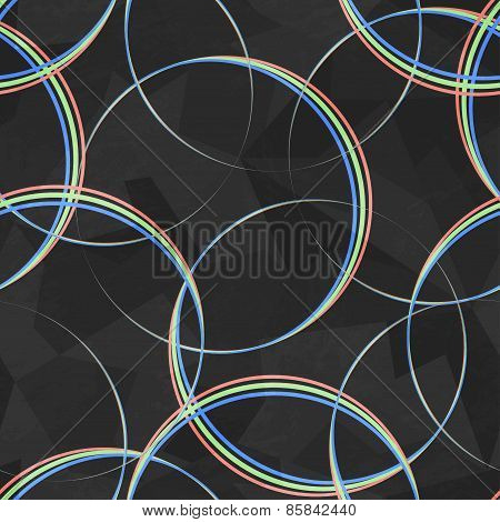 Spectrum Circles Seamless Pattern