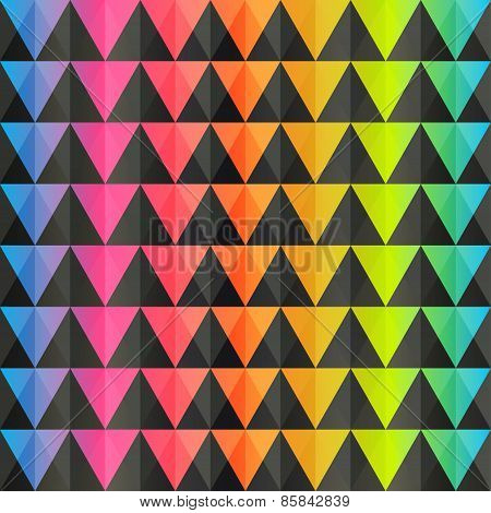 Spectrum Triangle Seamless Pattern