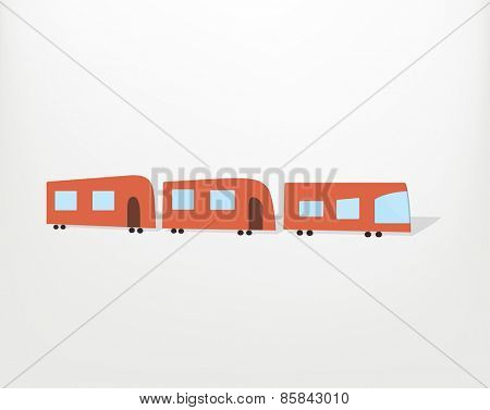 cartoon red train