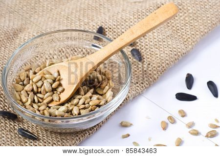 Peeled Sunflower Seed - Wooden Spoon
