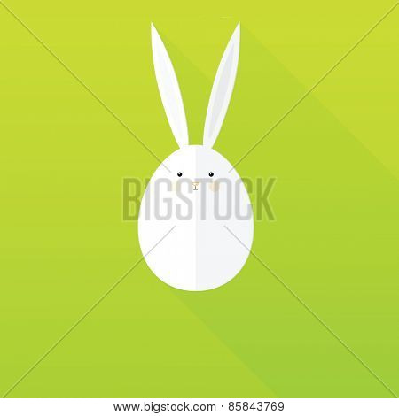 flat paper Easter Bunny