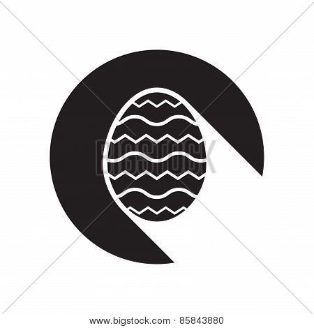 Black Icon With Easter Egg And Stylized Shadow