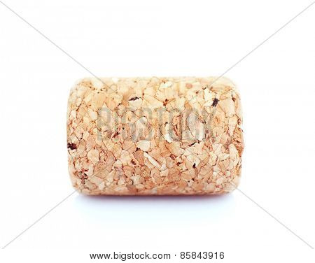 Wine cork isolated on white
